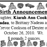 Birth Announcement by Jonathan Hilton