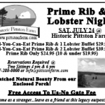 Prime Rib And Lobster Night Ad